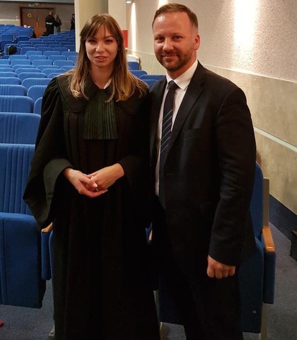 przysięga adwokacka mec. Marta Barczyk z patronem